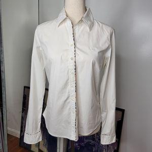 Burberry London White Button Down Shirt sz Large